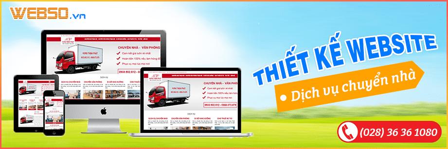 Dịch vụ Thiết kế webiste Dịch Vụ Chuyển Nhà
