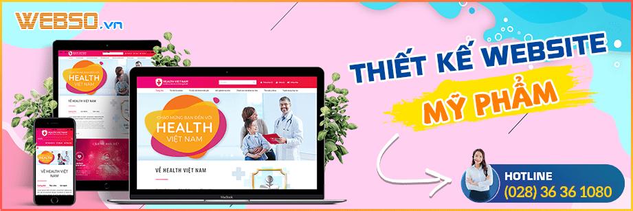 Dịch vụ Thiết kế website mỹ phẩm
