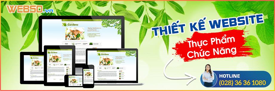 Thiết kế website bán thực phẩm chức năng