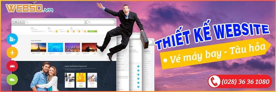 Dịch vụ Thiết Kế Website Vé Máy Bay