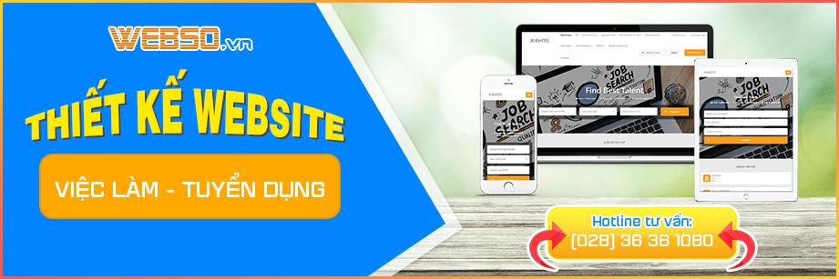 Dịch vụ Thiết kế Website Việc Làm - Tuyển Dụng