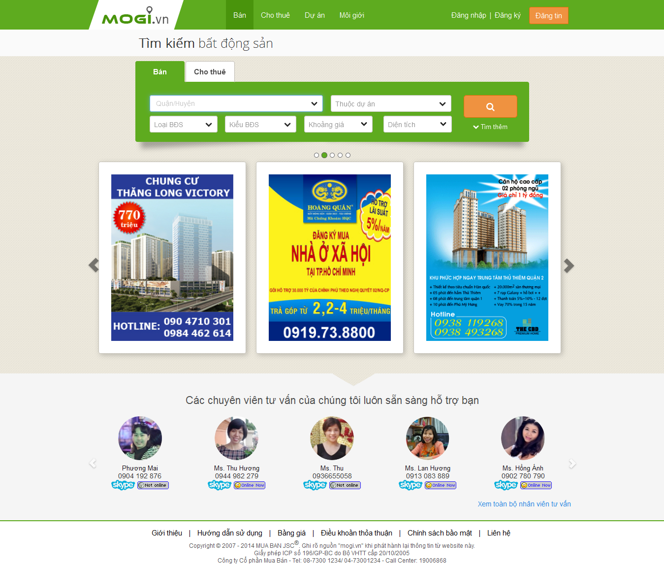 Mẫu website bất động sản 1019