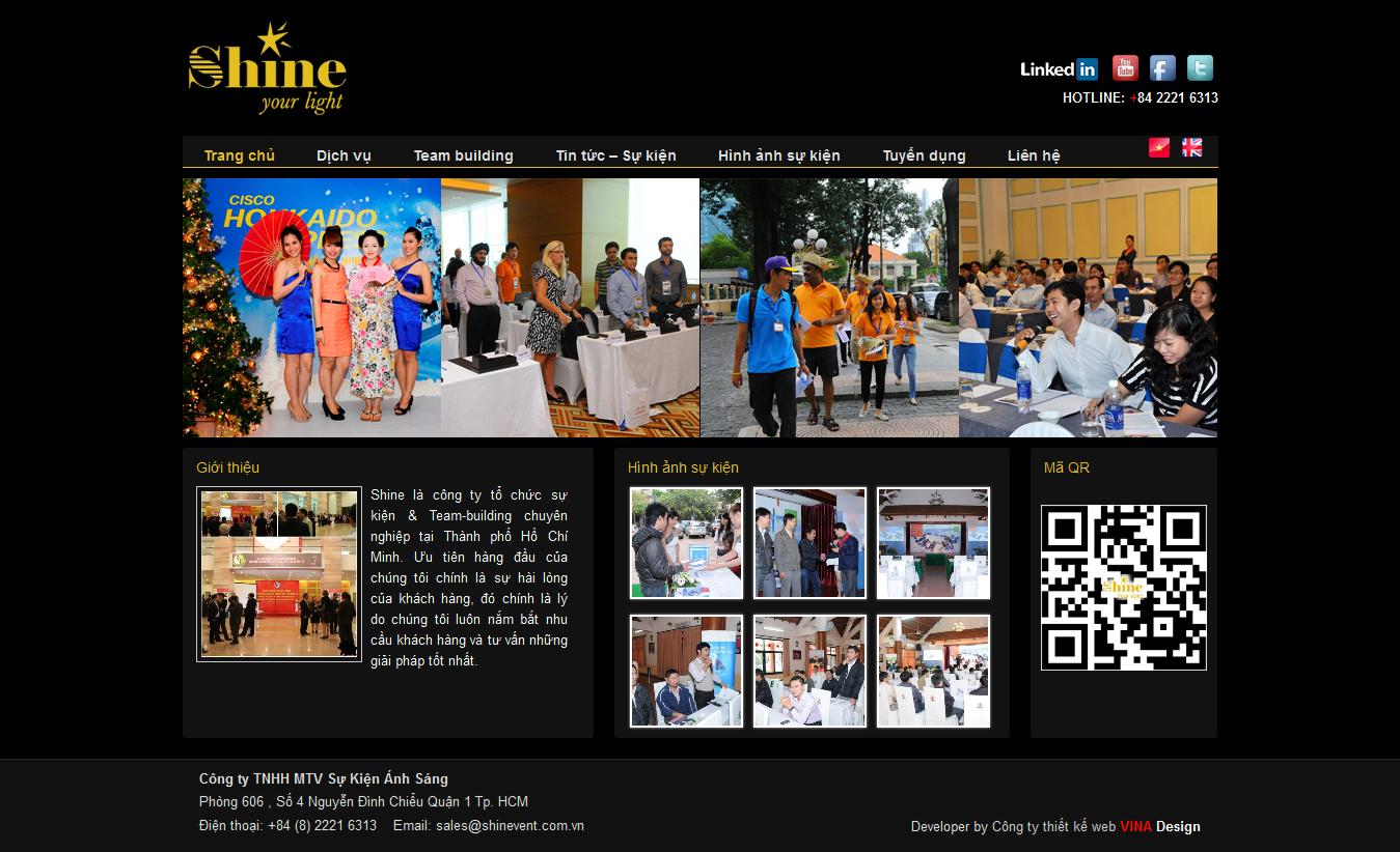 Mẫu website tổ chức sự kiện 10373