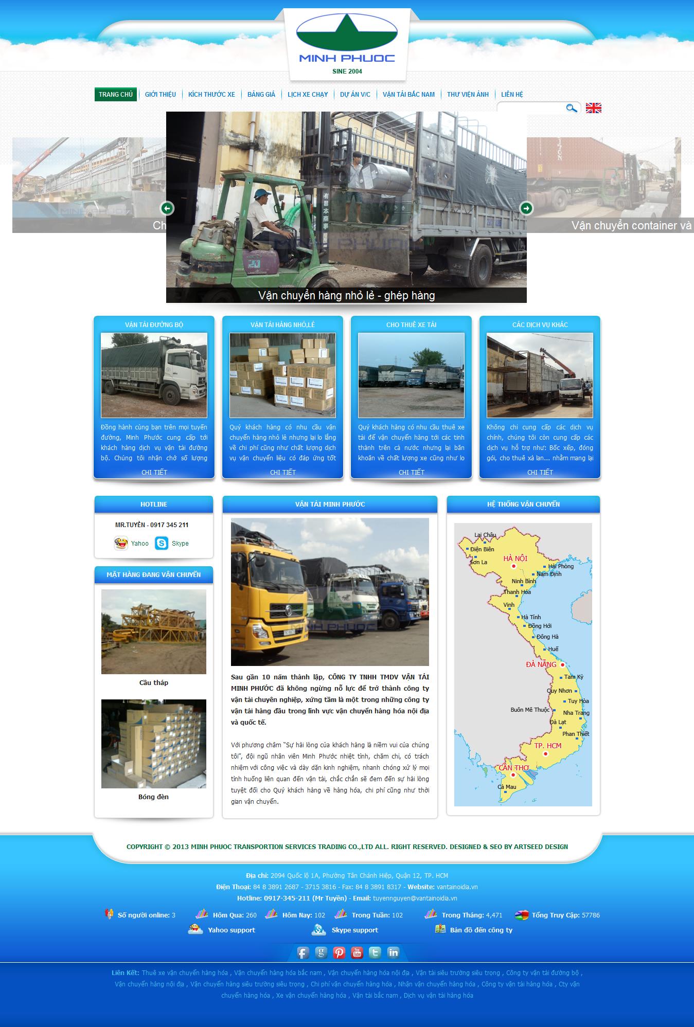 Mẫu website vận chuyển 10413