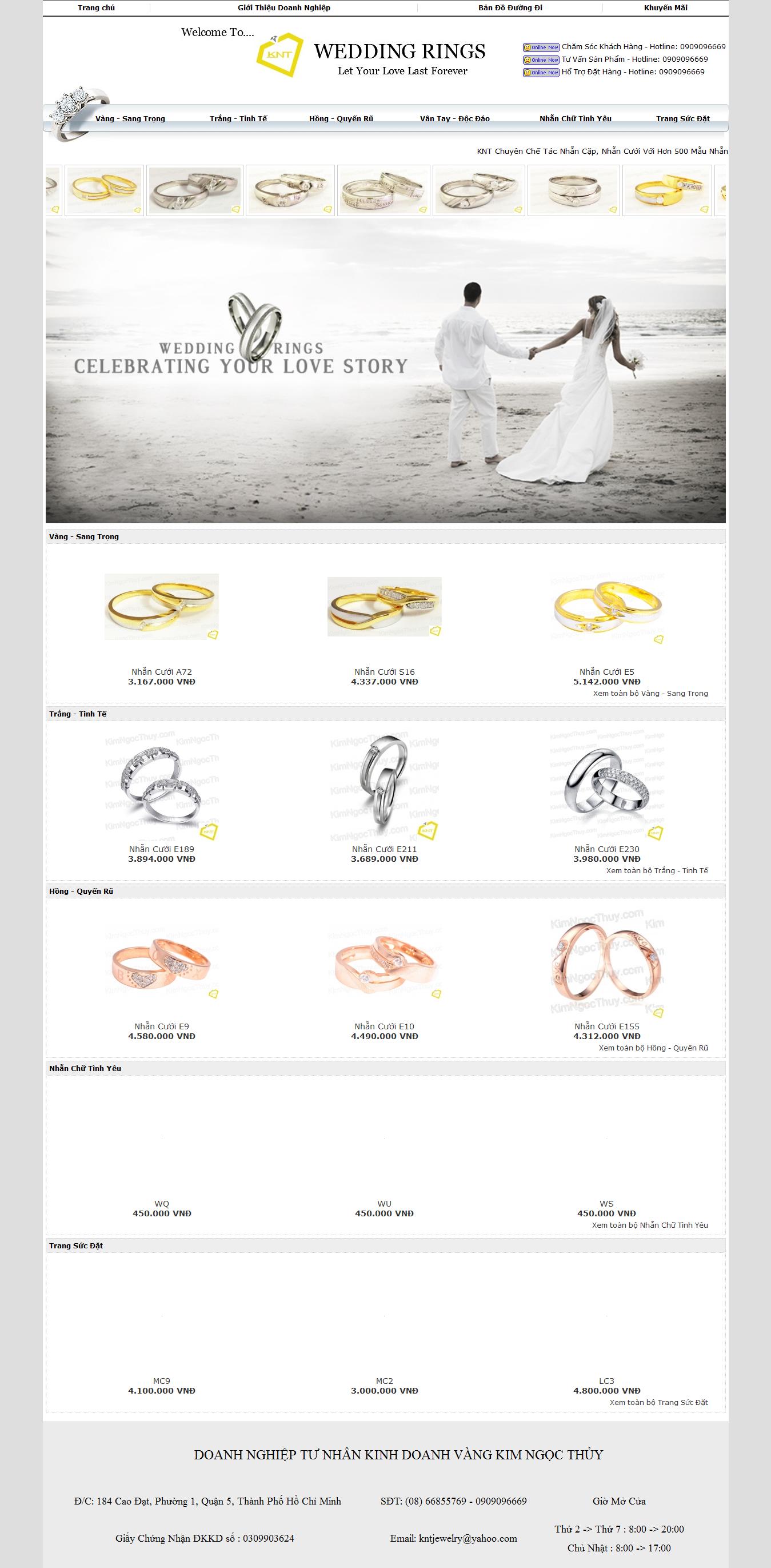 Mẫu website trang sức 10394