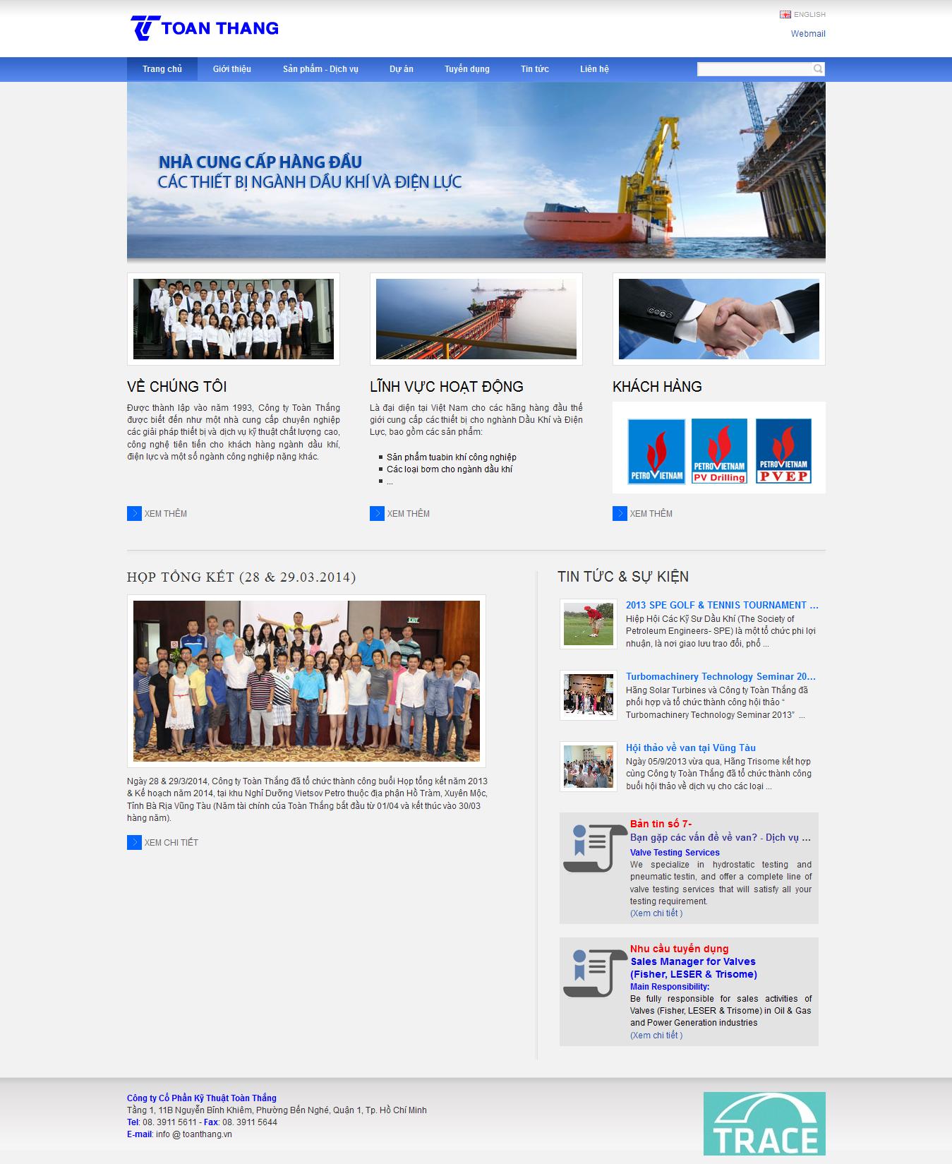 Mẫu website giới thiệu công ty 1089