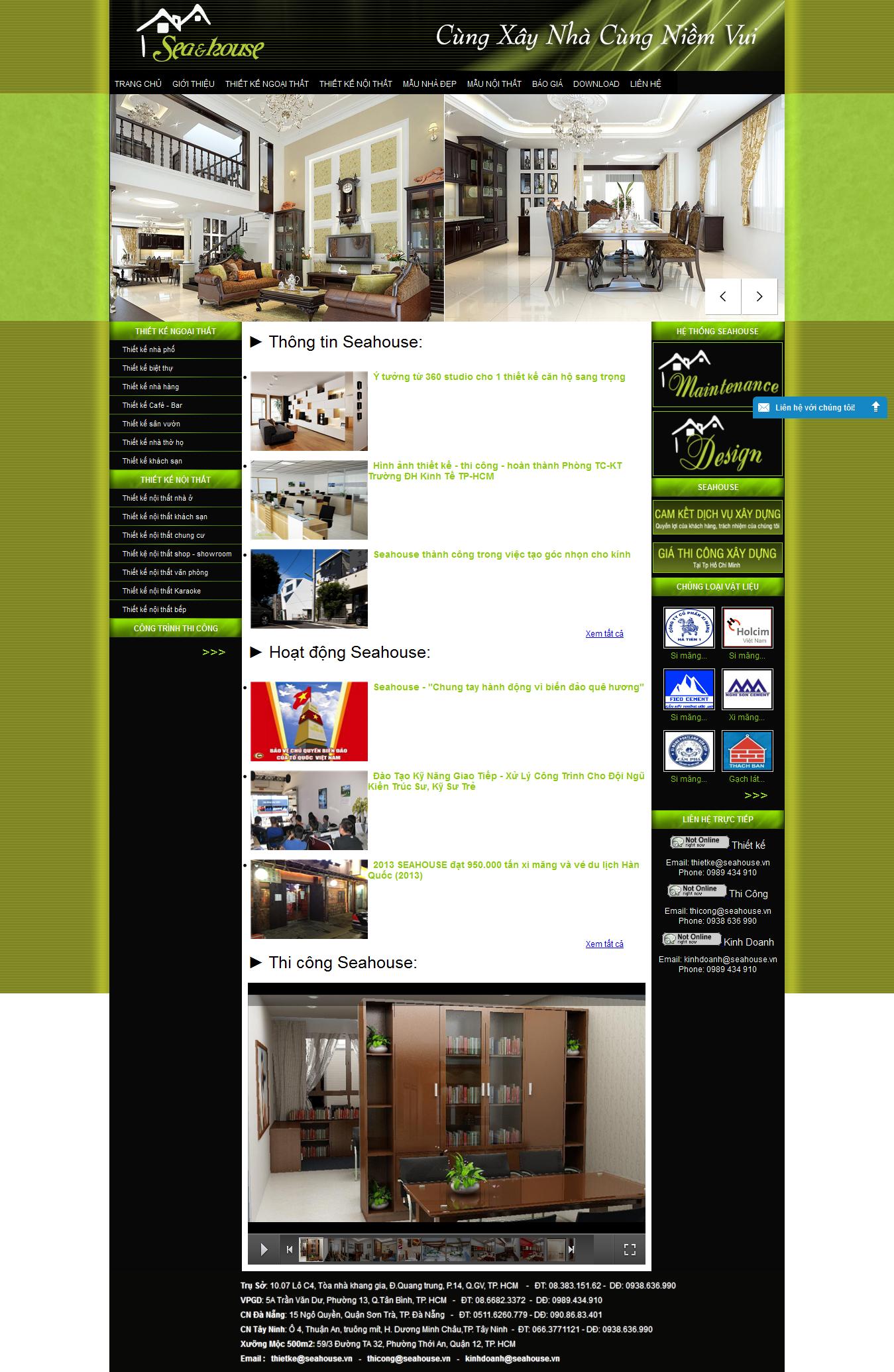 Mẫu website thiết kế nội thất 10150