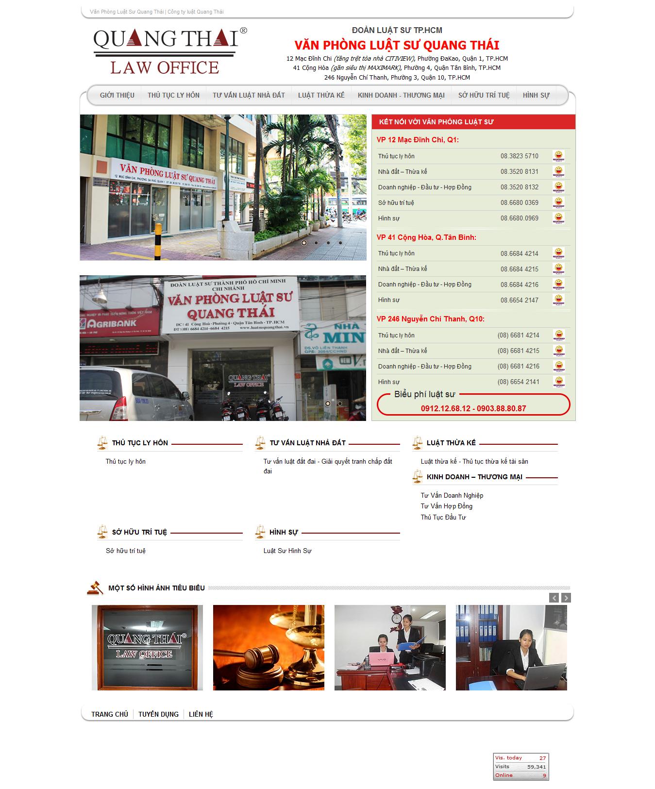Mẫu website luật 10169