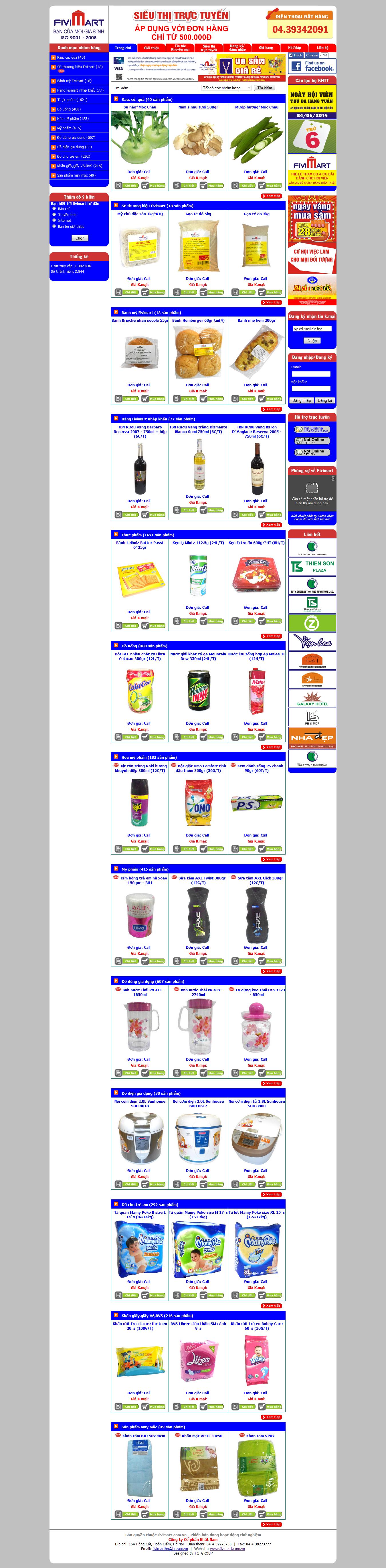 Mẫu website thực phẩm 10298