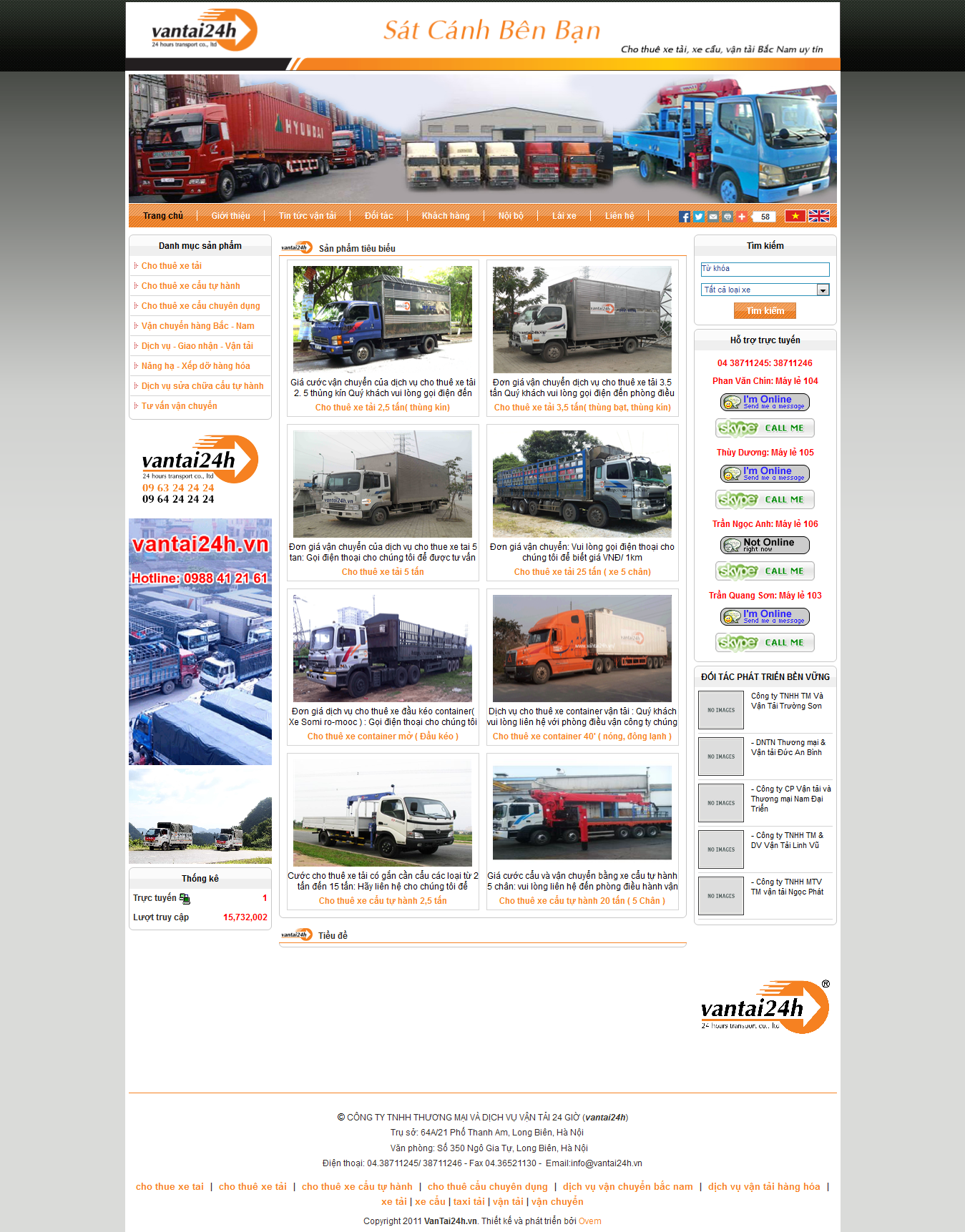 Mẫu website vận chuyển 10416