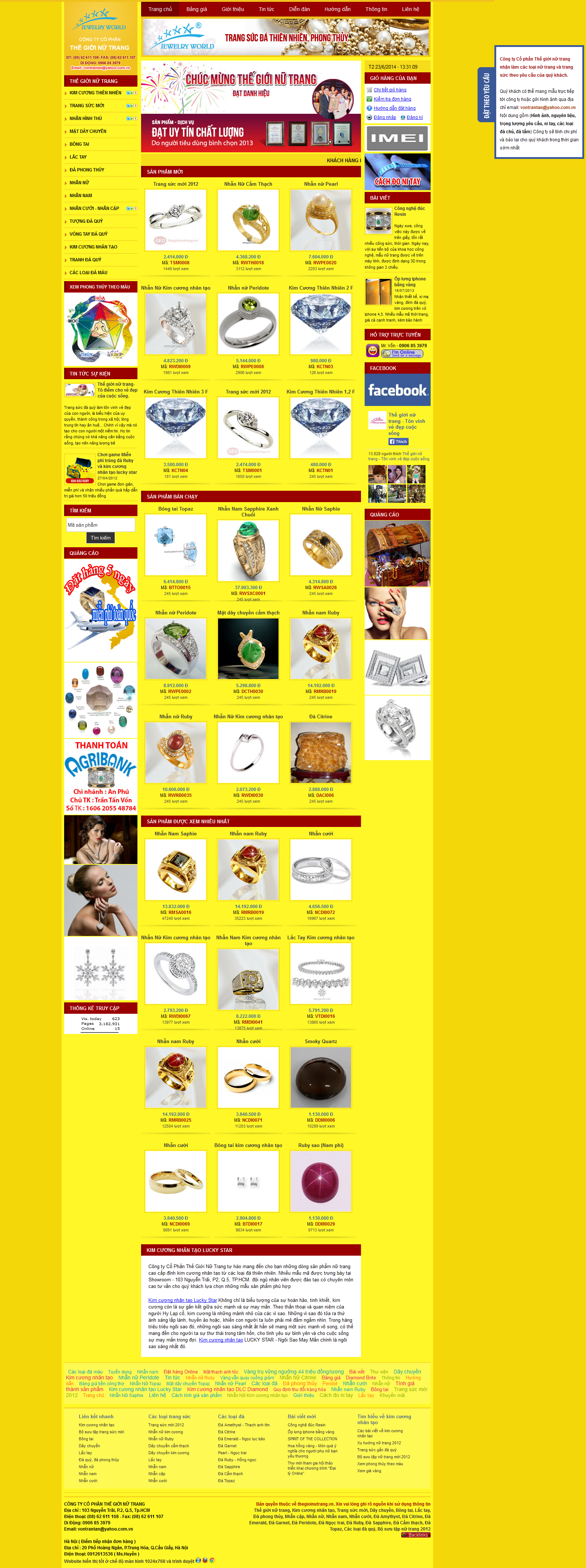 Mẫu website trang sức 10397