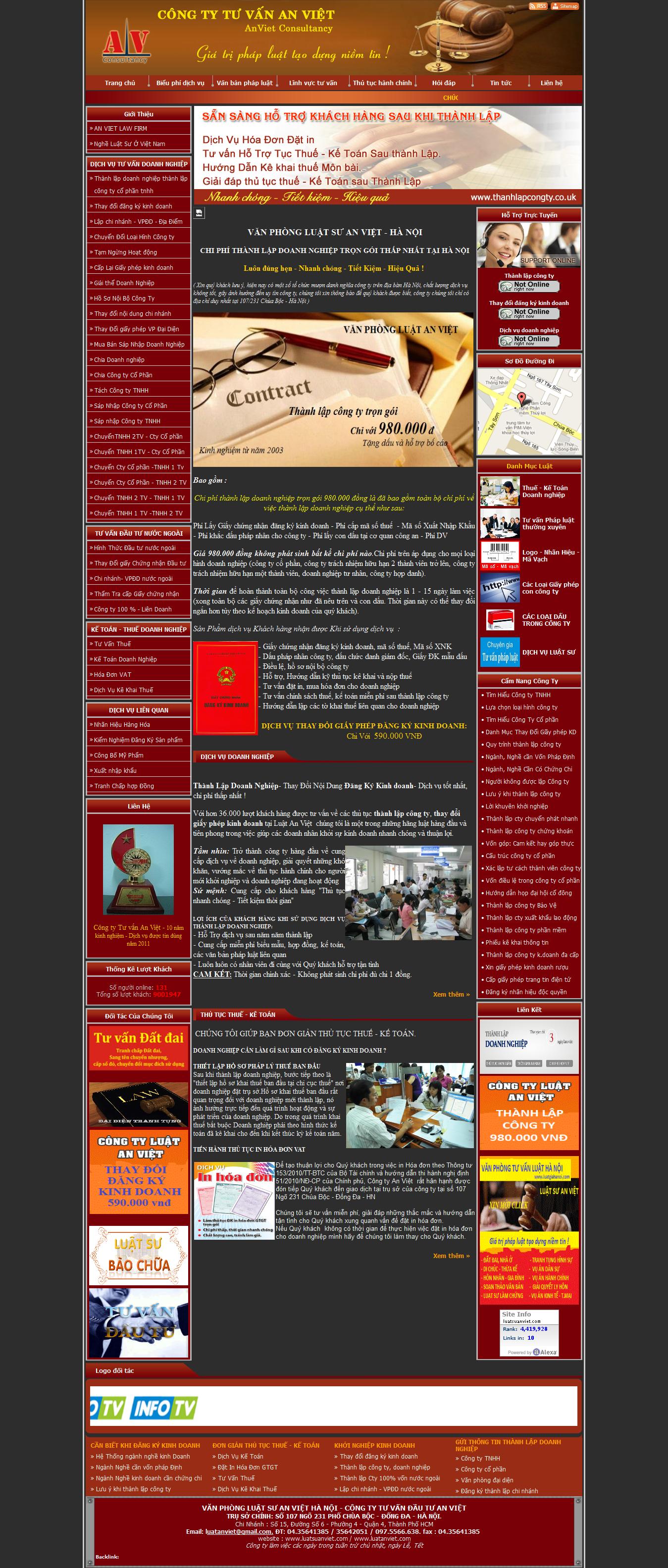Mẫu website luật 10171