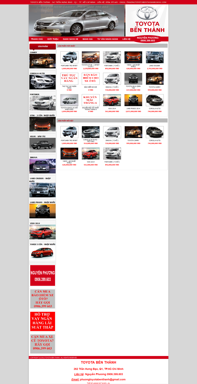 Mẫu website giới thiệu xe 10253