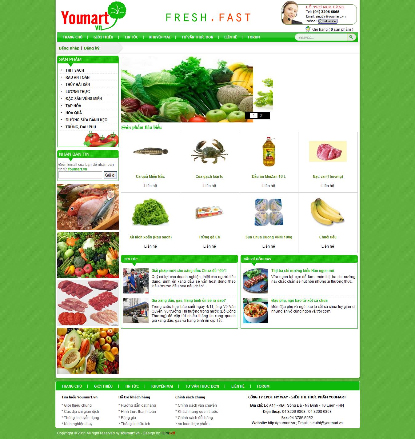 Mẫu website thực phẩm 10300