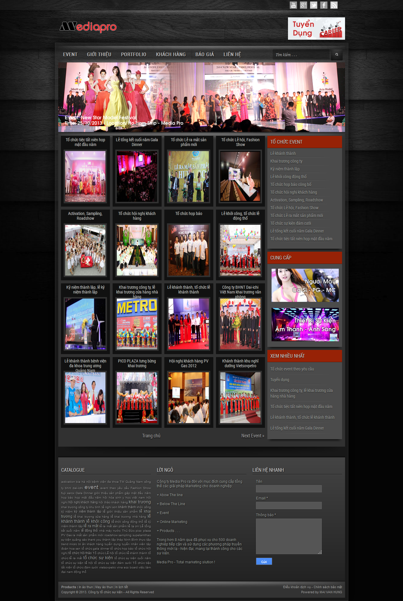Mẫu website tổ chức sự kiện 10378