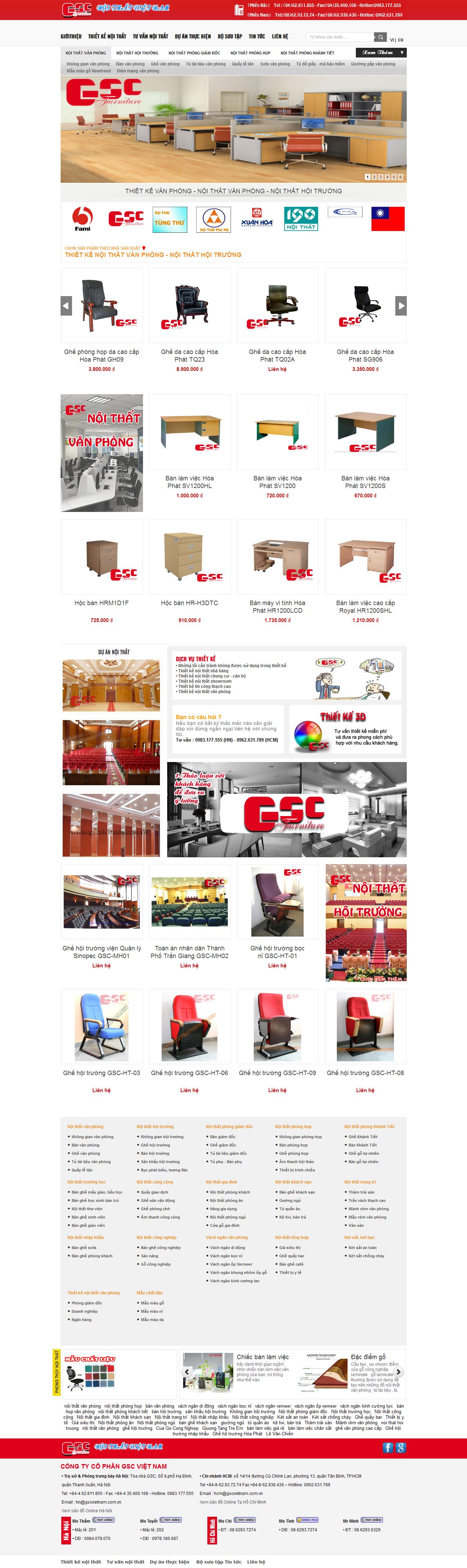 Mẫu website thi công nội thất - xây dựng 10232