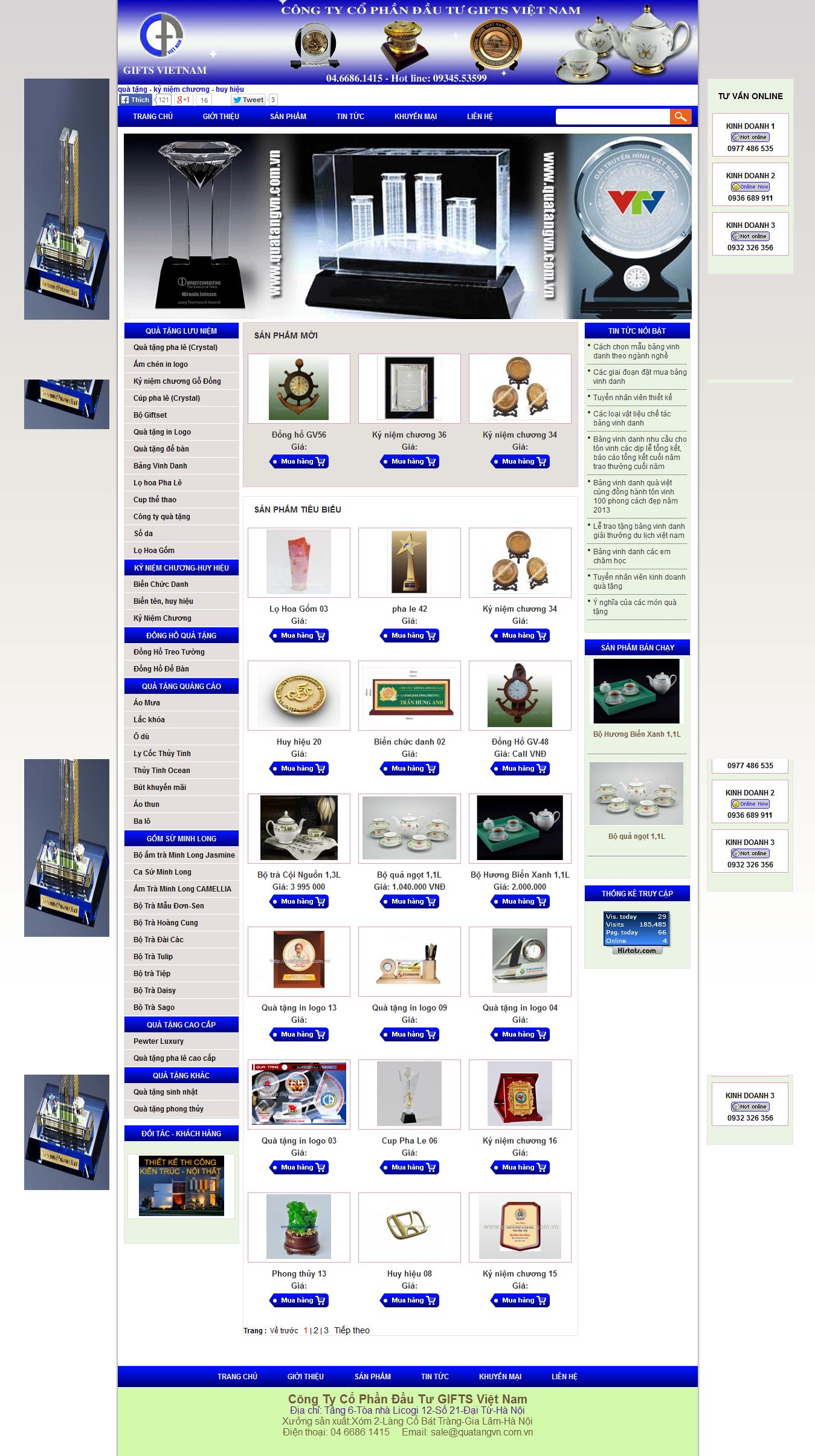 Mẫu website quà tặng 10271