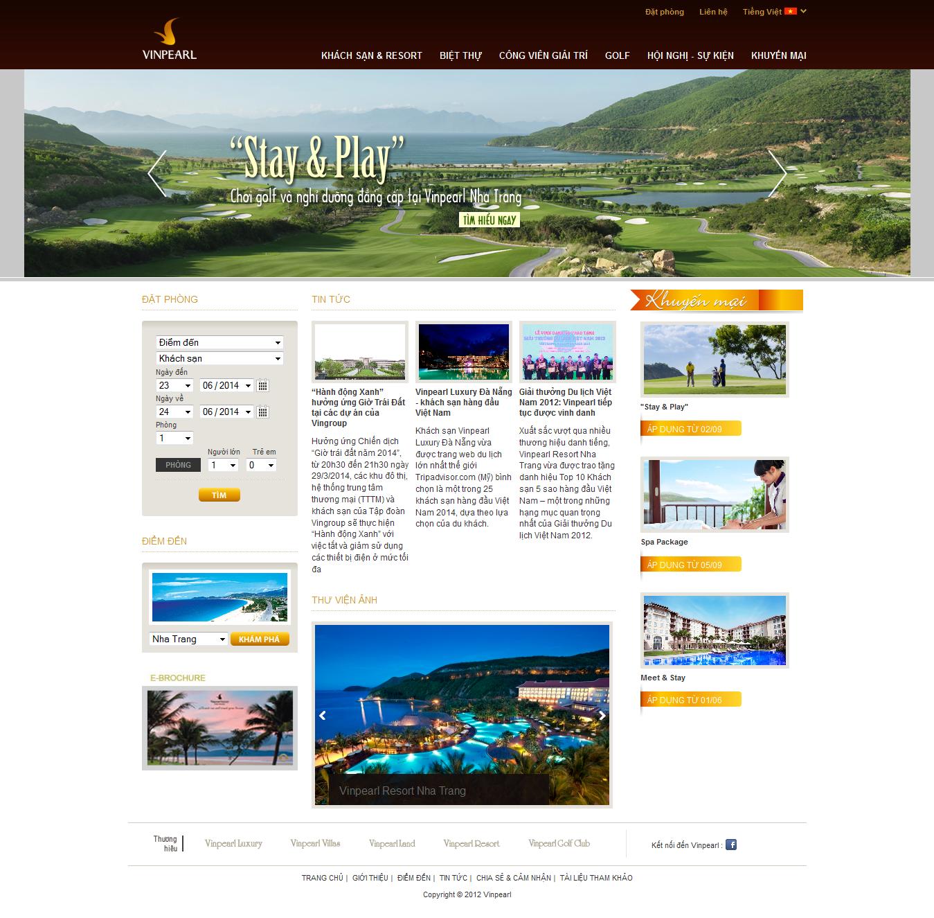Mẫu website nhà hàng, khách sạn 10440