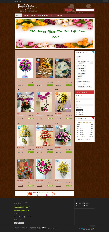 Mẫu website bán hoa 10118