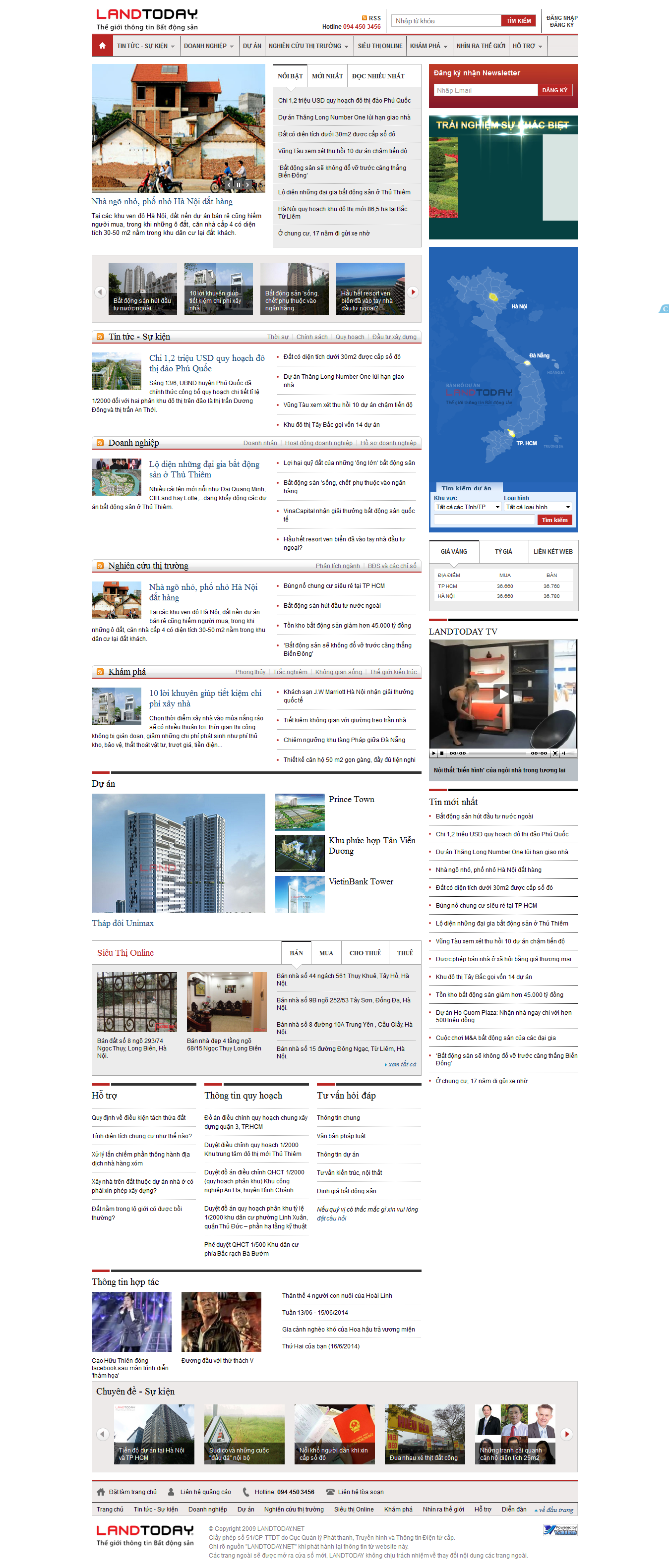 Mẫu website bất động sản 1025