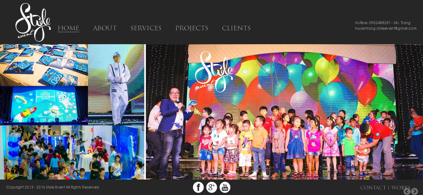 Mẫu website tổ chức sự kiện 10381
