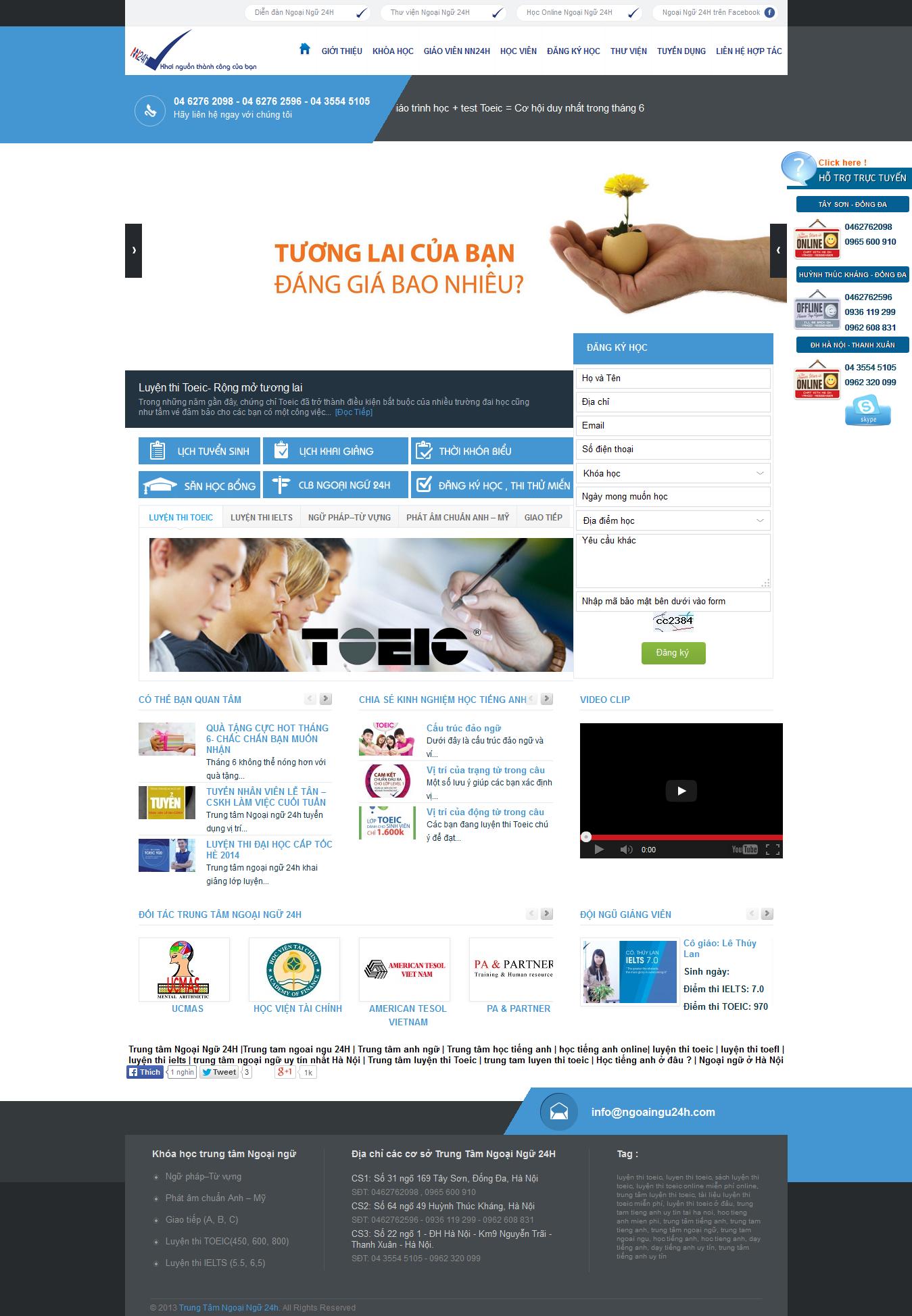 Mẫu website luyện thi tiếng anh 1077