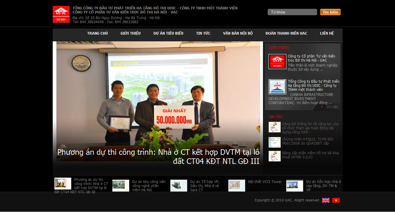 Mẫu website thiết kế xây dựng 10155