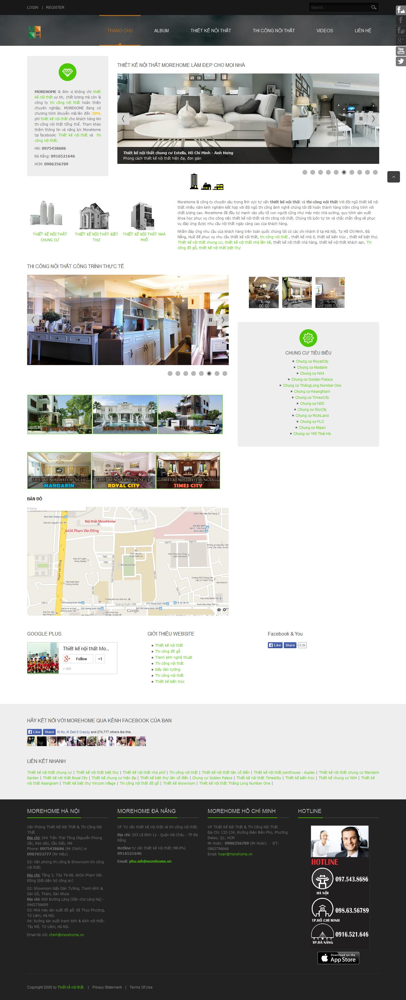 Mẫu website thi công nội thất 10235