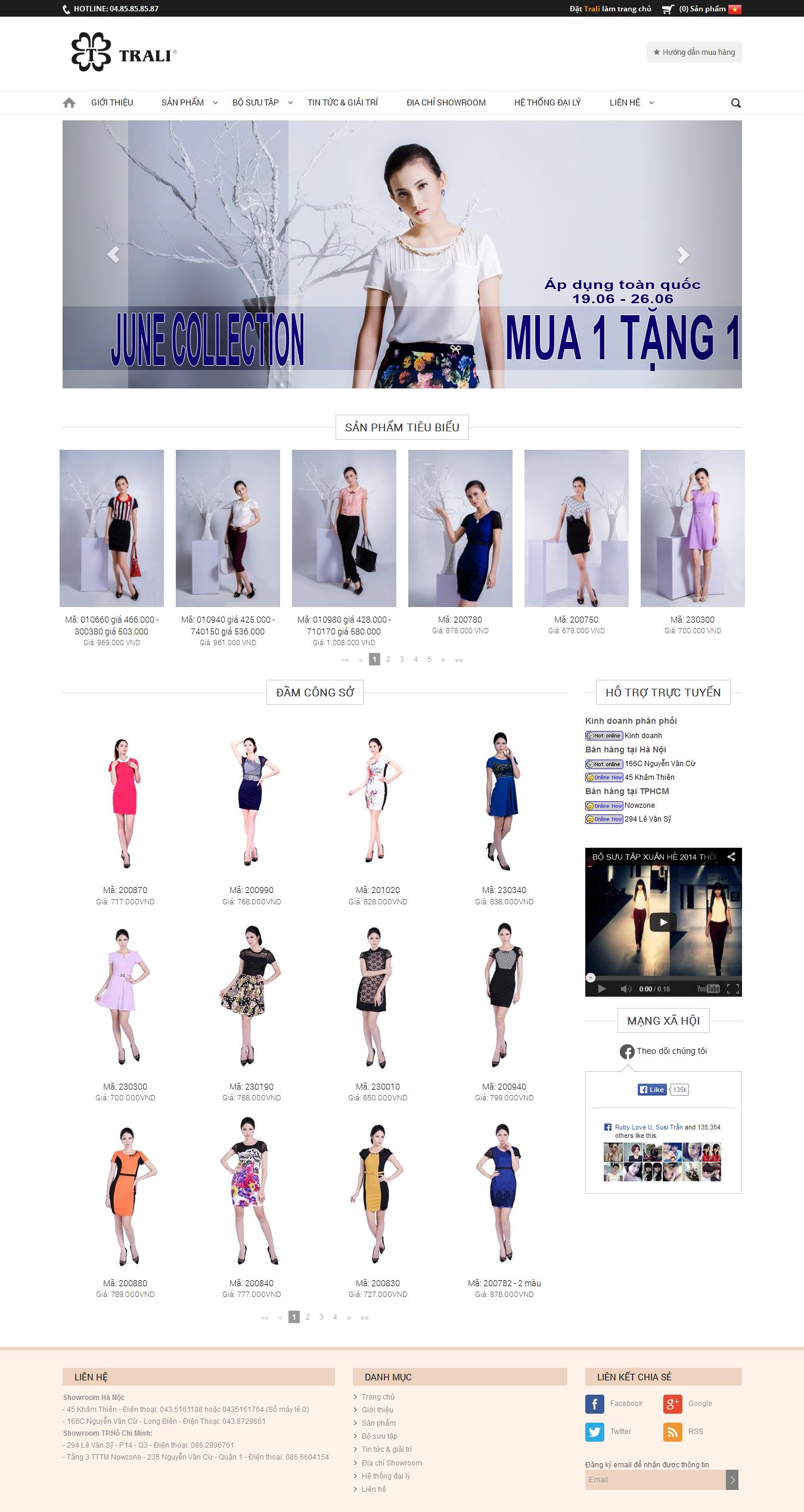 Mẫu website thời trang 10344