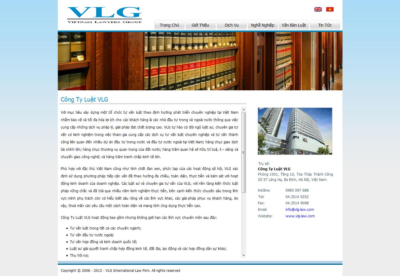 Mẫu website luật 10176