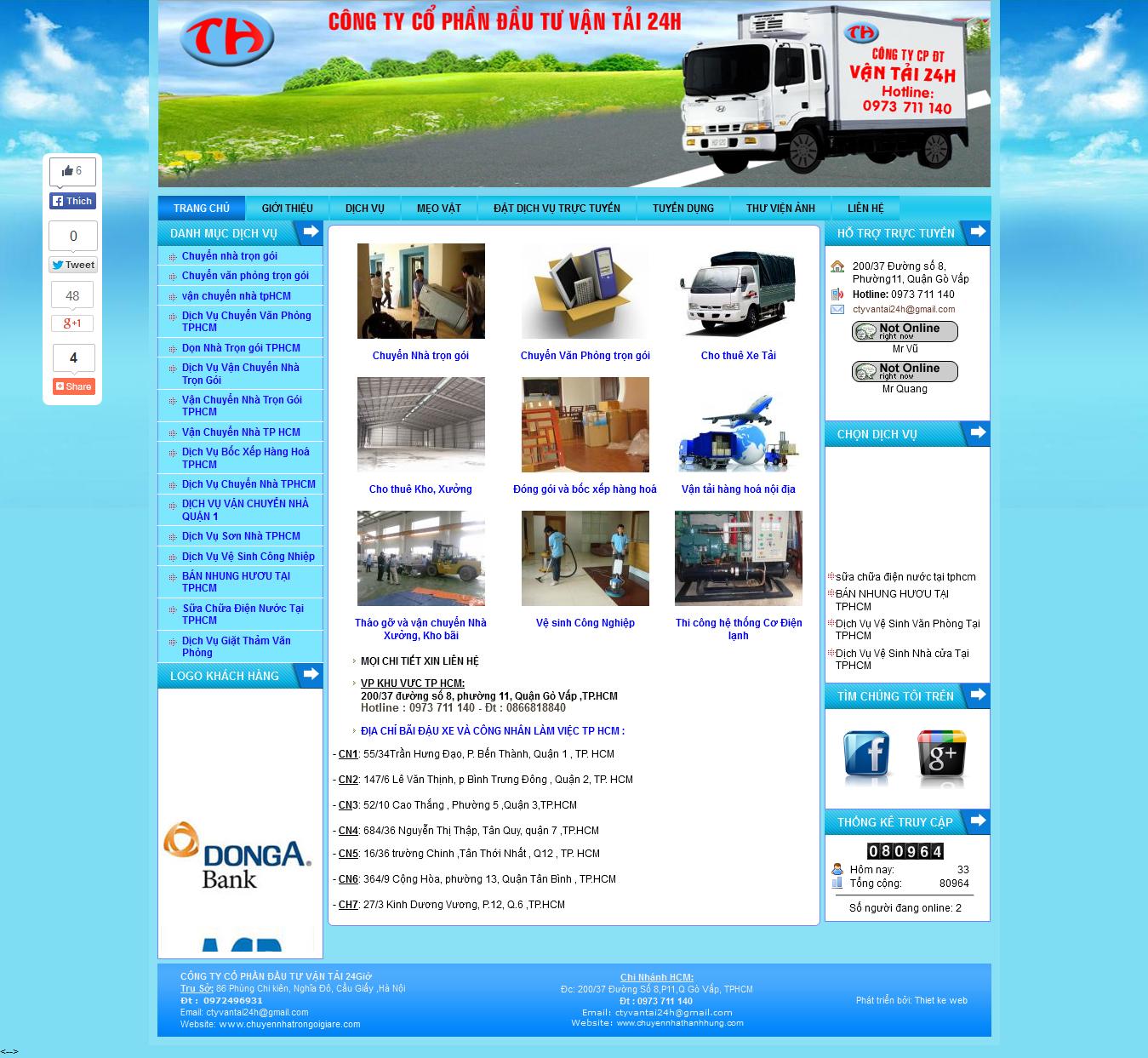 Mẫu website vận chuyển 10424