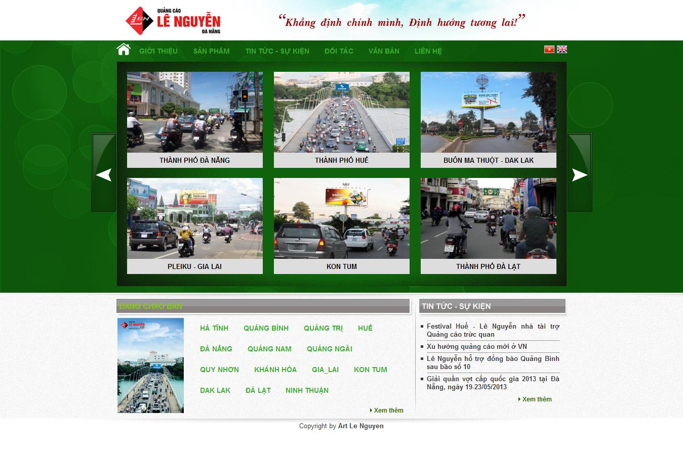 Mẫu website thiết kế quảng cáo 10140