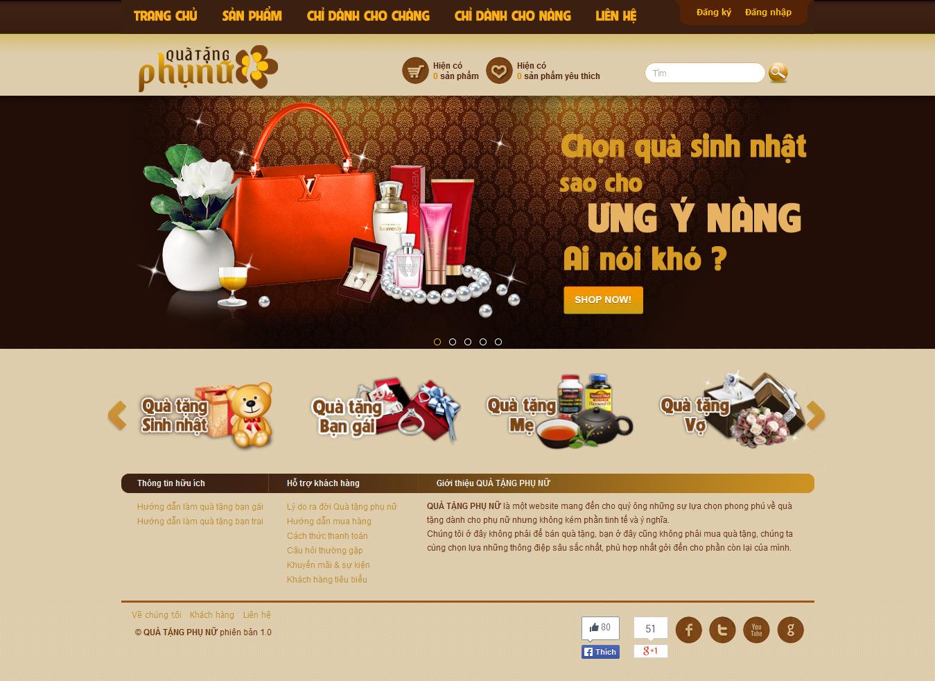 Mẫu website quà tặng 10278