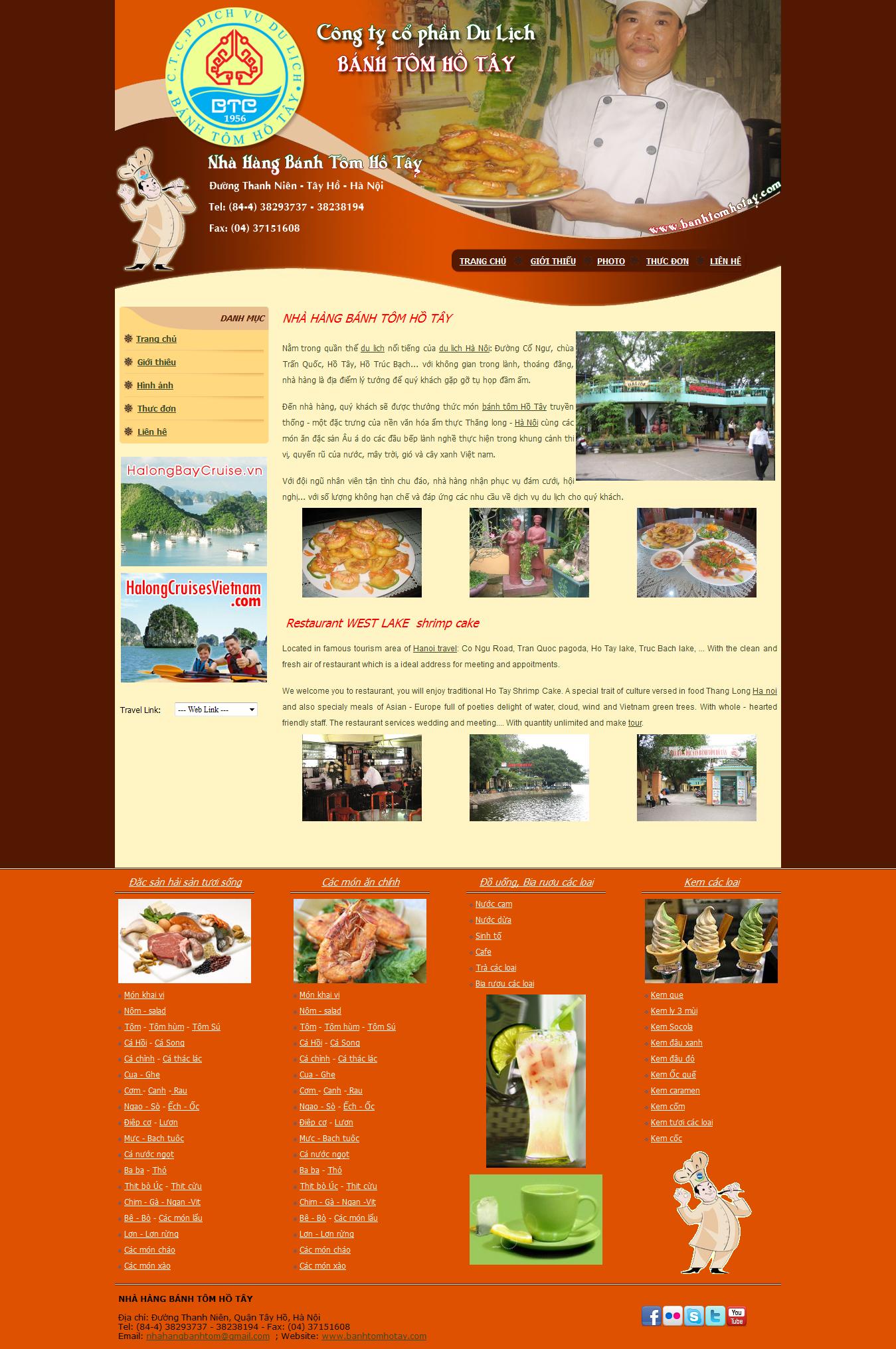 Mẫu website nhà hàng 10366