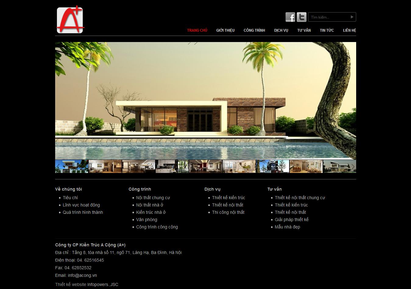 Mẫu website thiết kế nội thất 10160