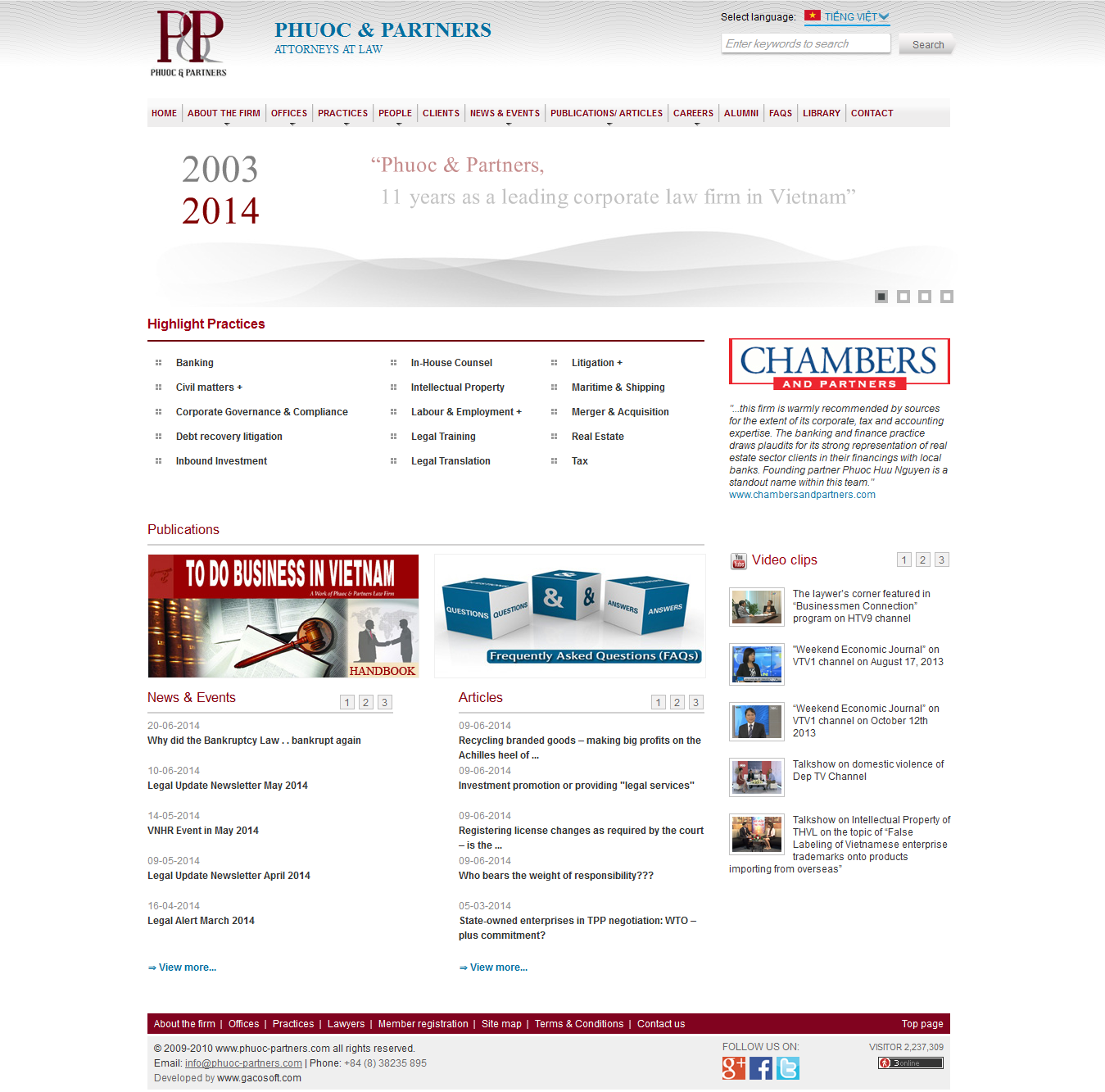 Mẫu website luật 10181