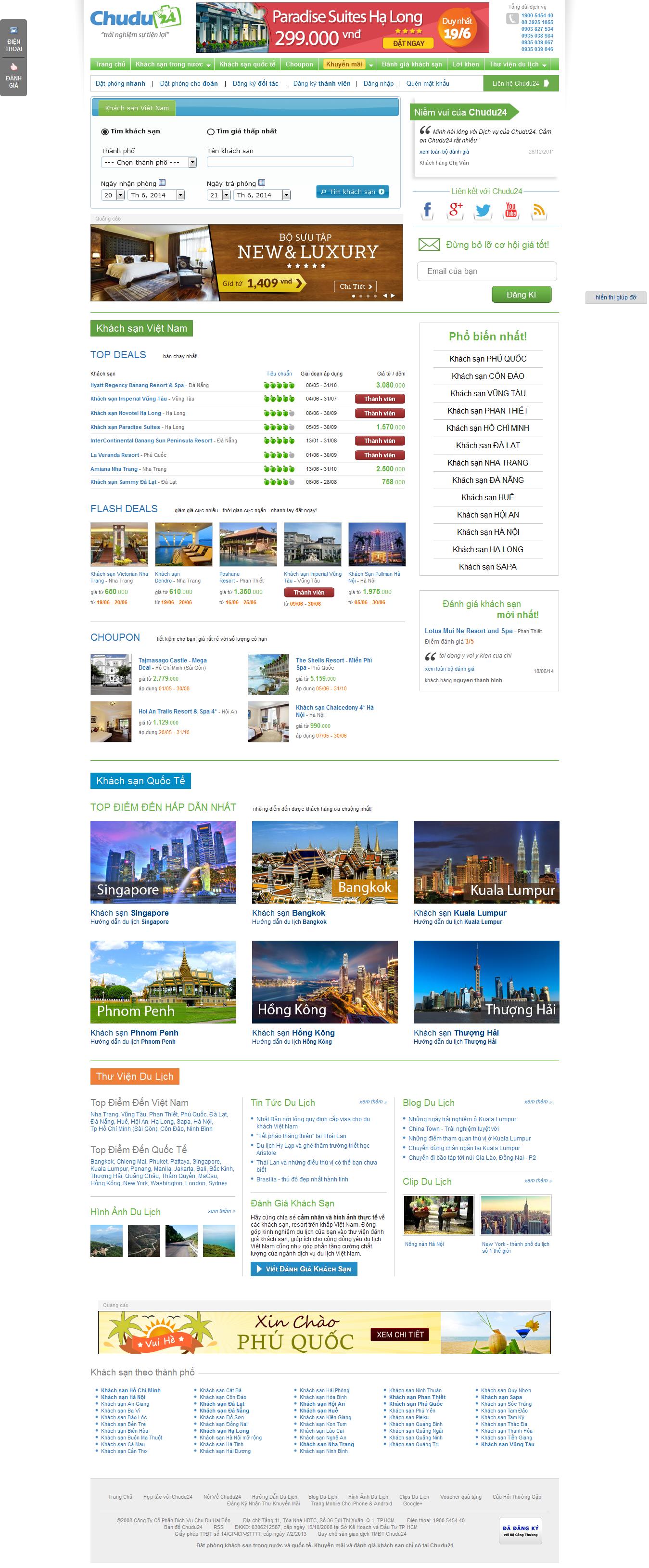Mẫu website du lịch 1063