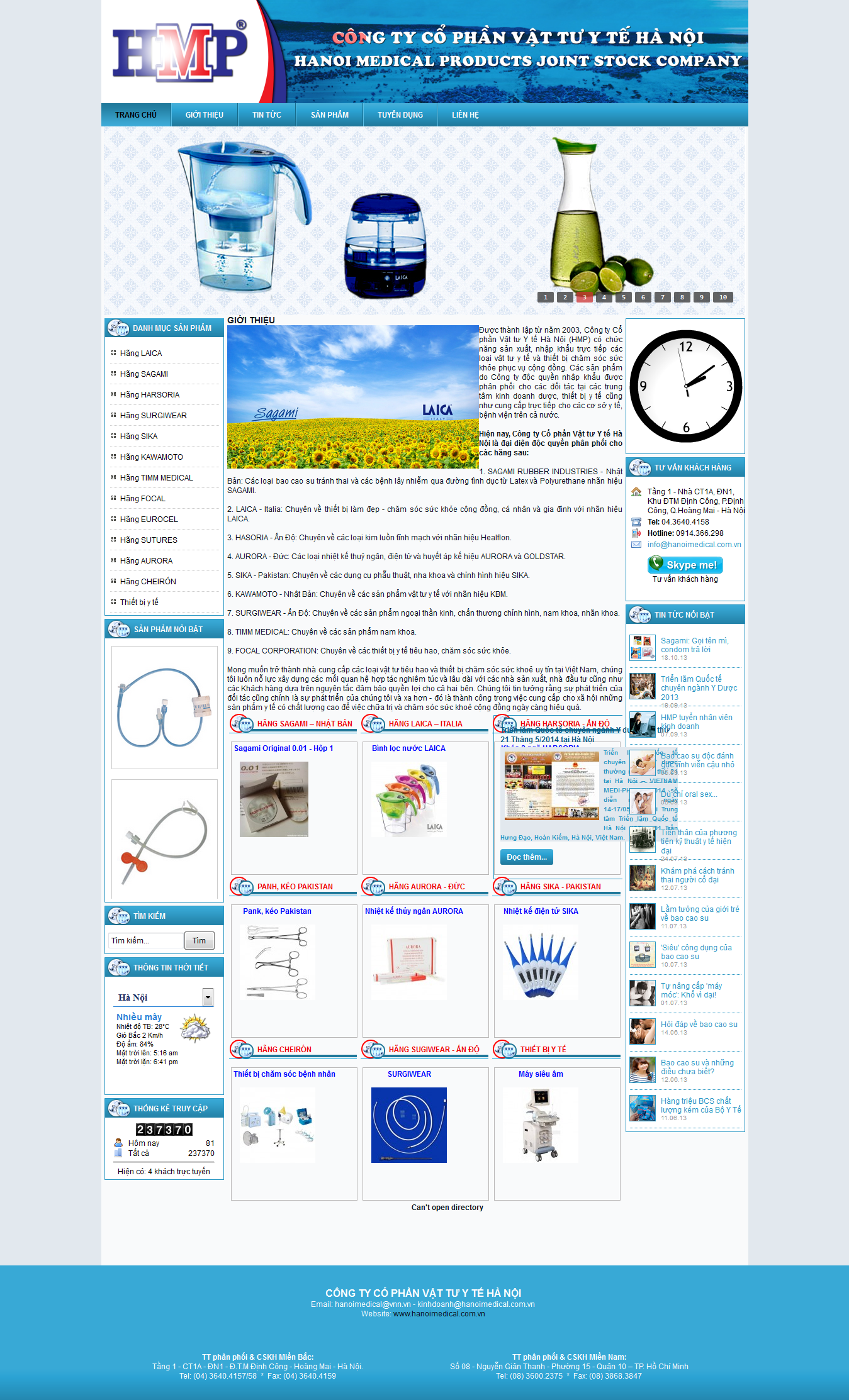 Mẫu website thiết bị y tế 10460