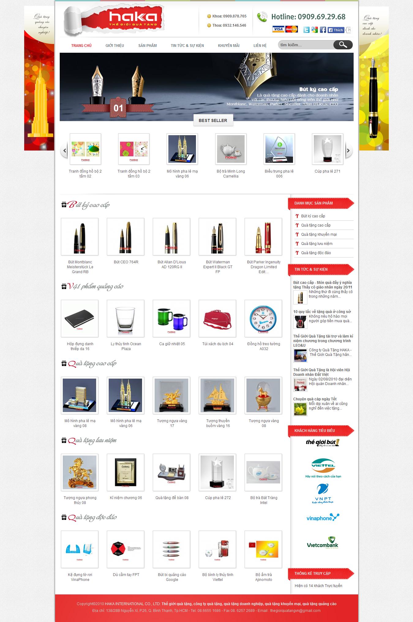 Mẫu website quà tặng 10280