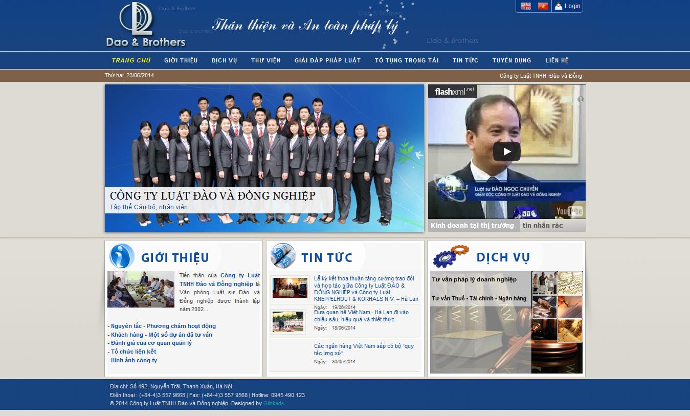 Mẫu website luật 10183
