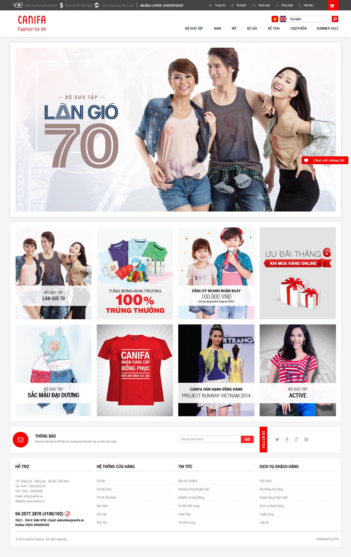 Mẫu website thời trang 10350