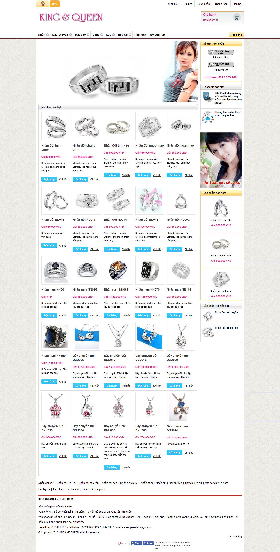 Mẫu website trang sức 10409