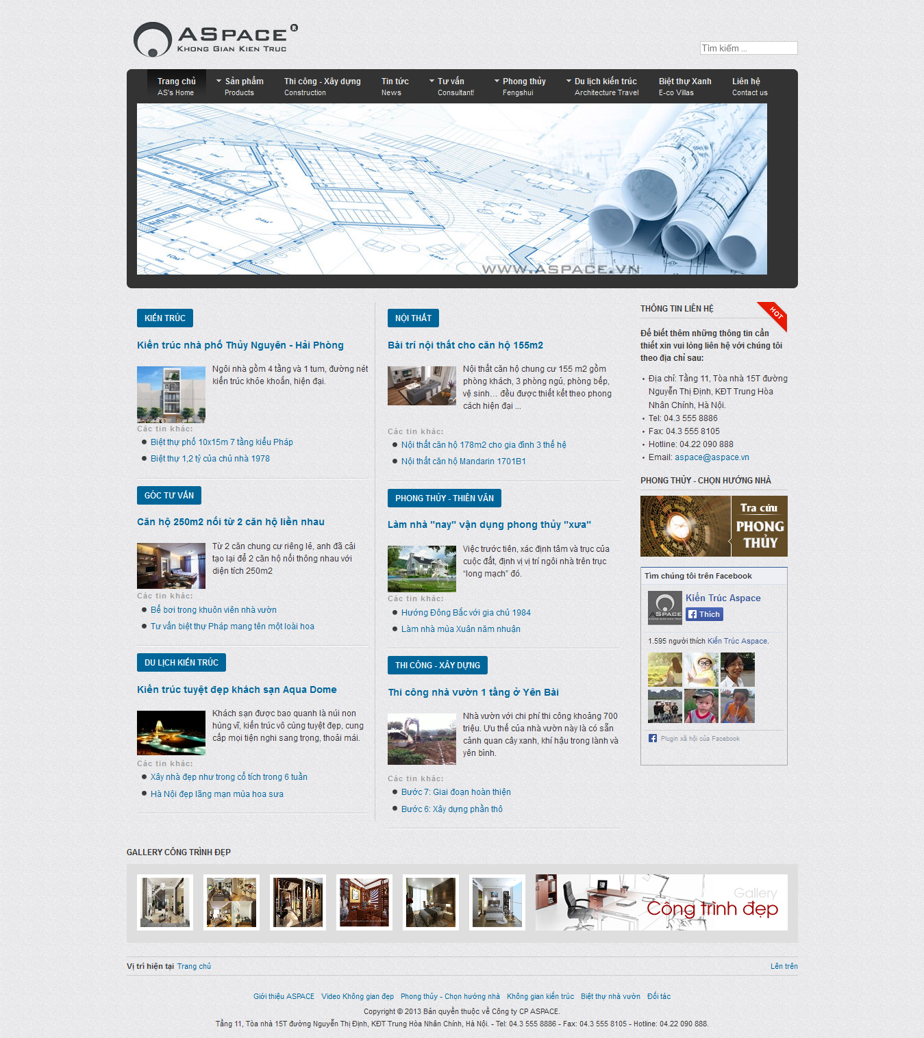 Mẫu website thiết kế nội thất 10163