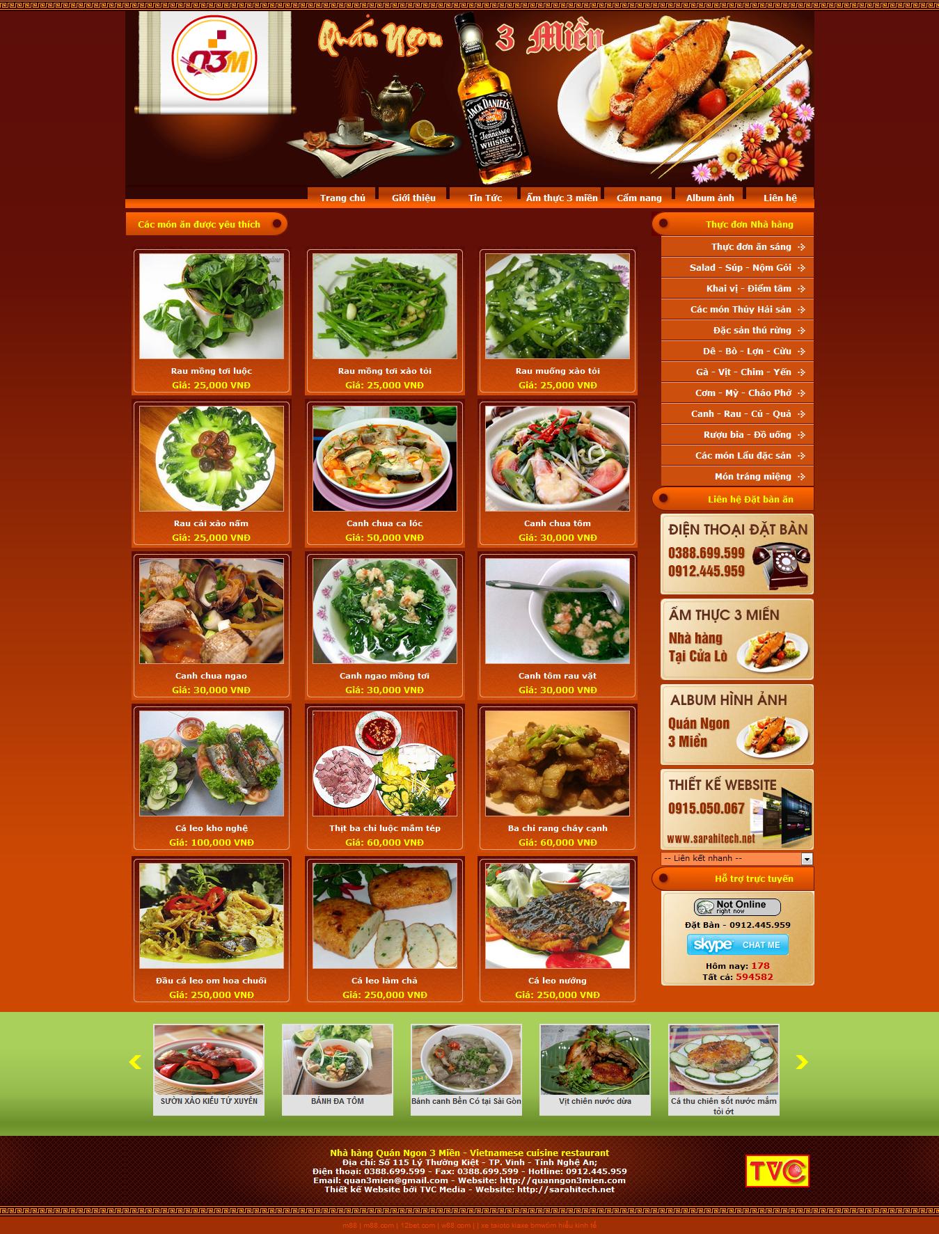 Mẫu website nhà hàng 10370