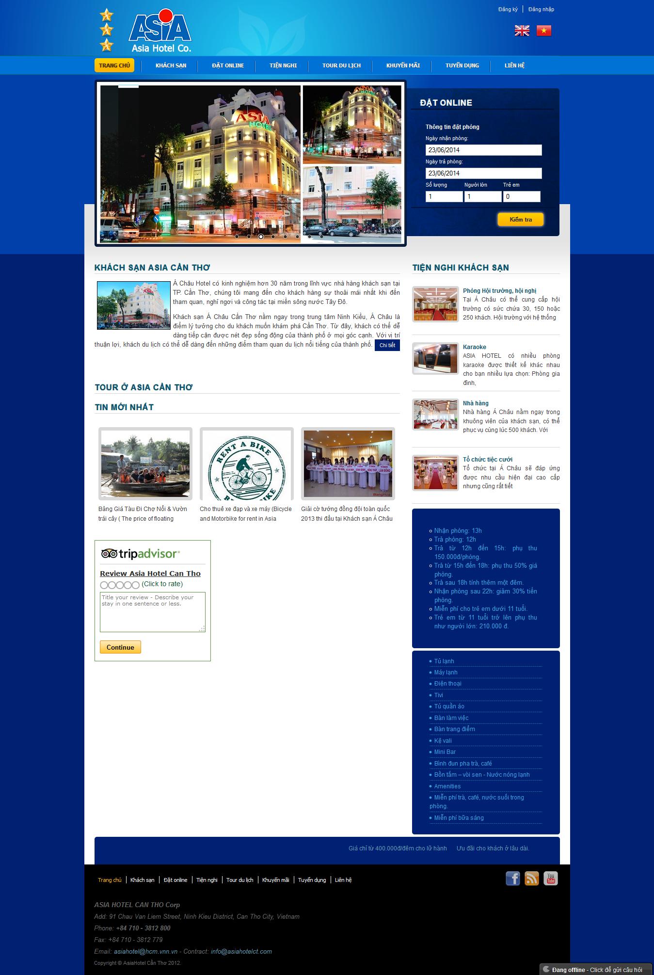 Mẫu website giới thiệu khach sạn 10223