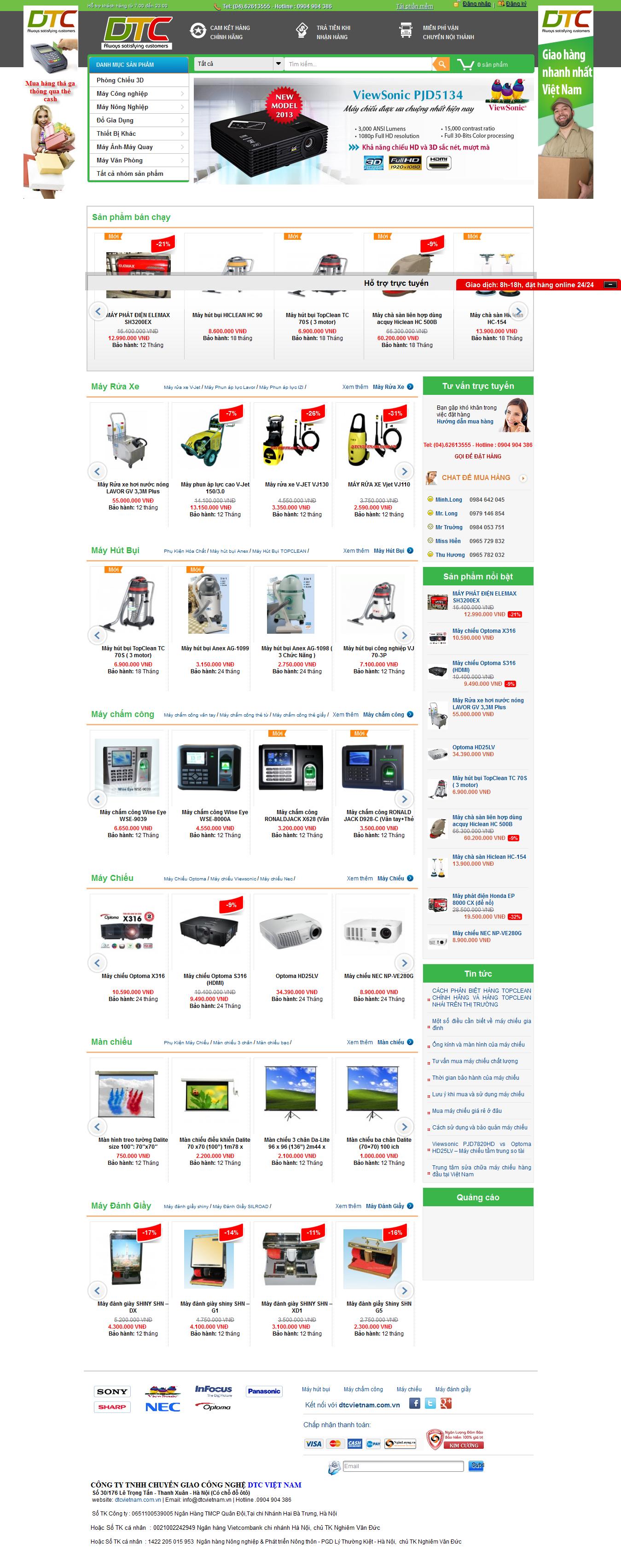 Mẫu website bán linh kiện điện tử 1018
