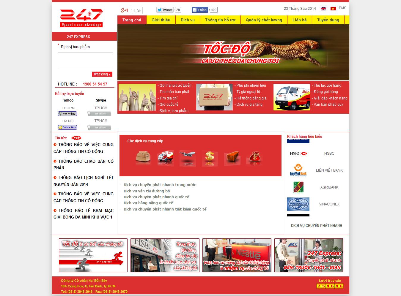 Mẫu website vận chuyển 10432
