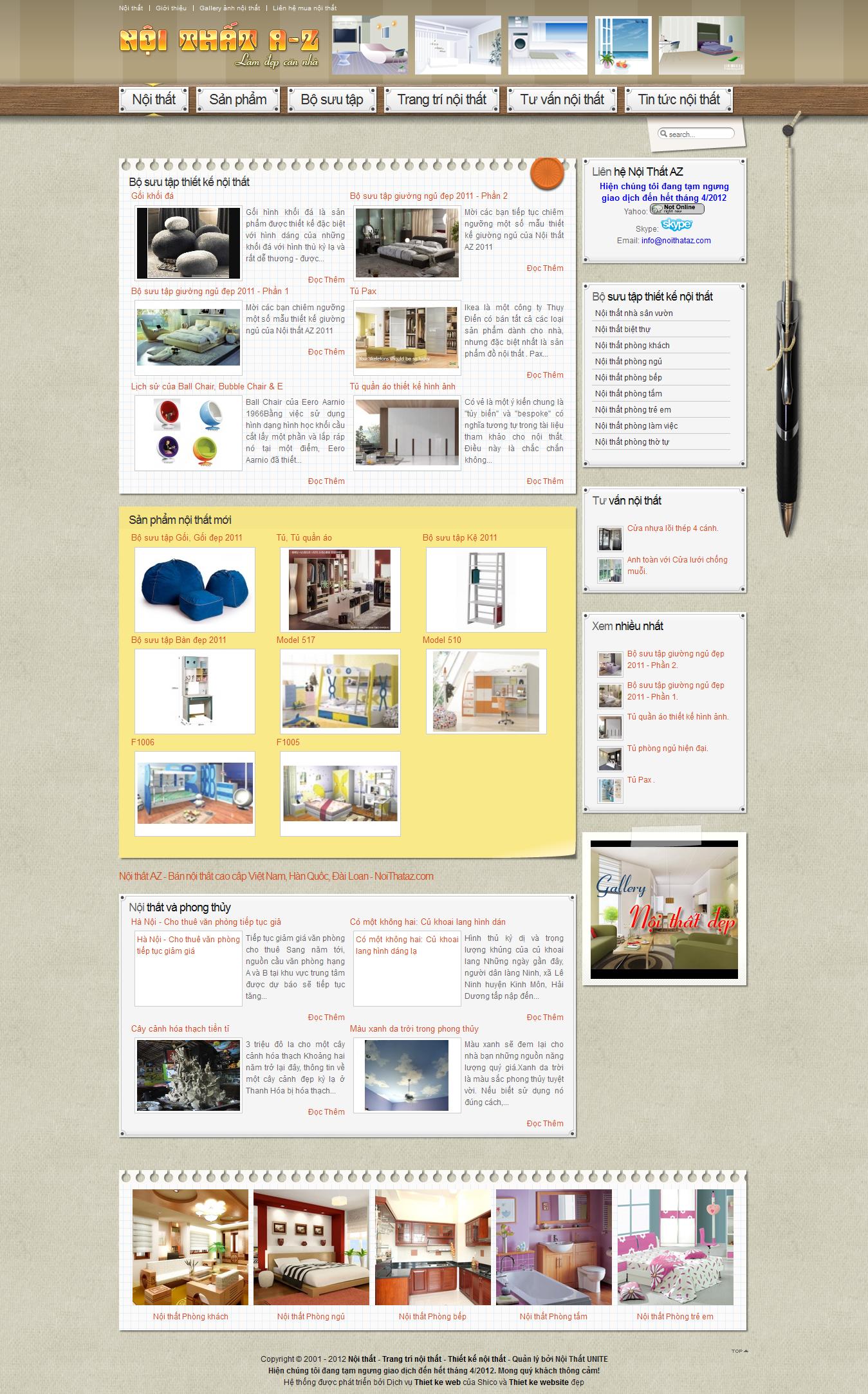 Mẫu website nội thất 10246