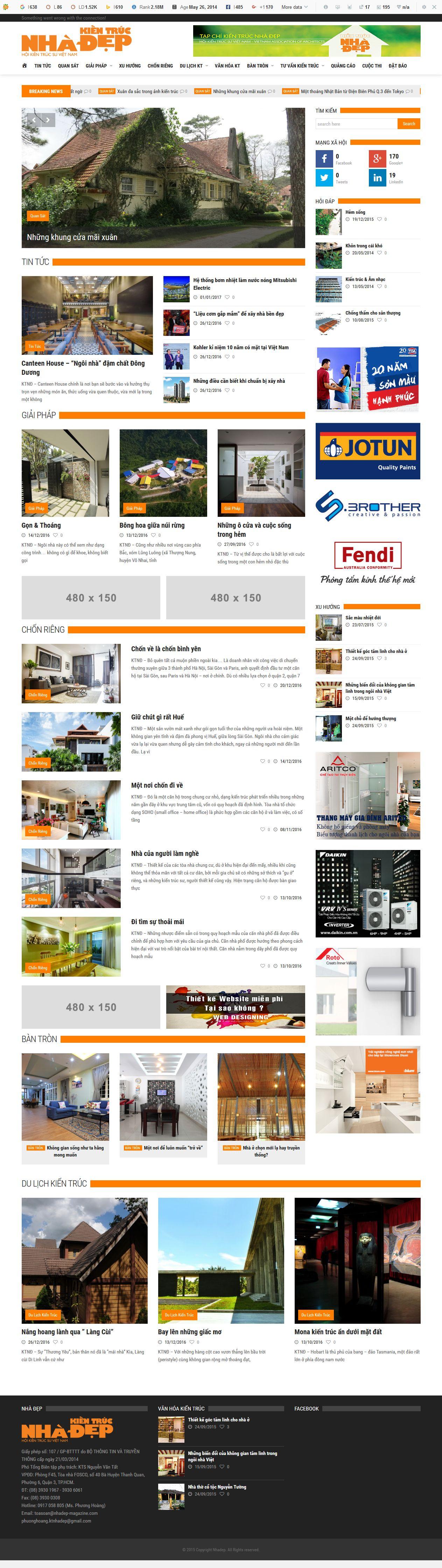 Mẫu website kiến trúc 10153