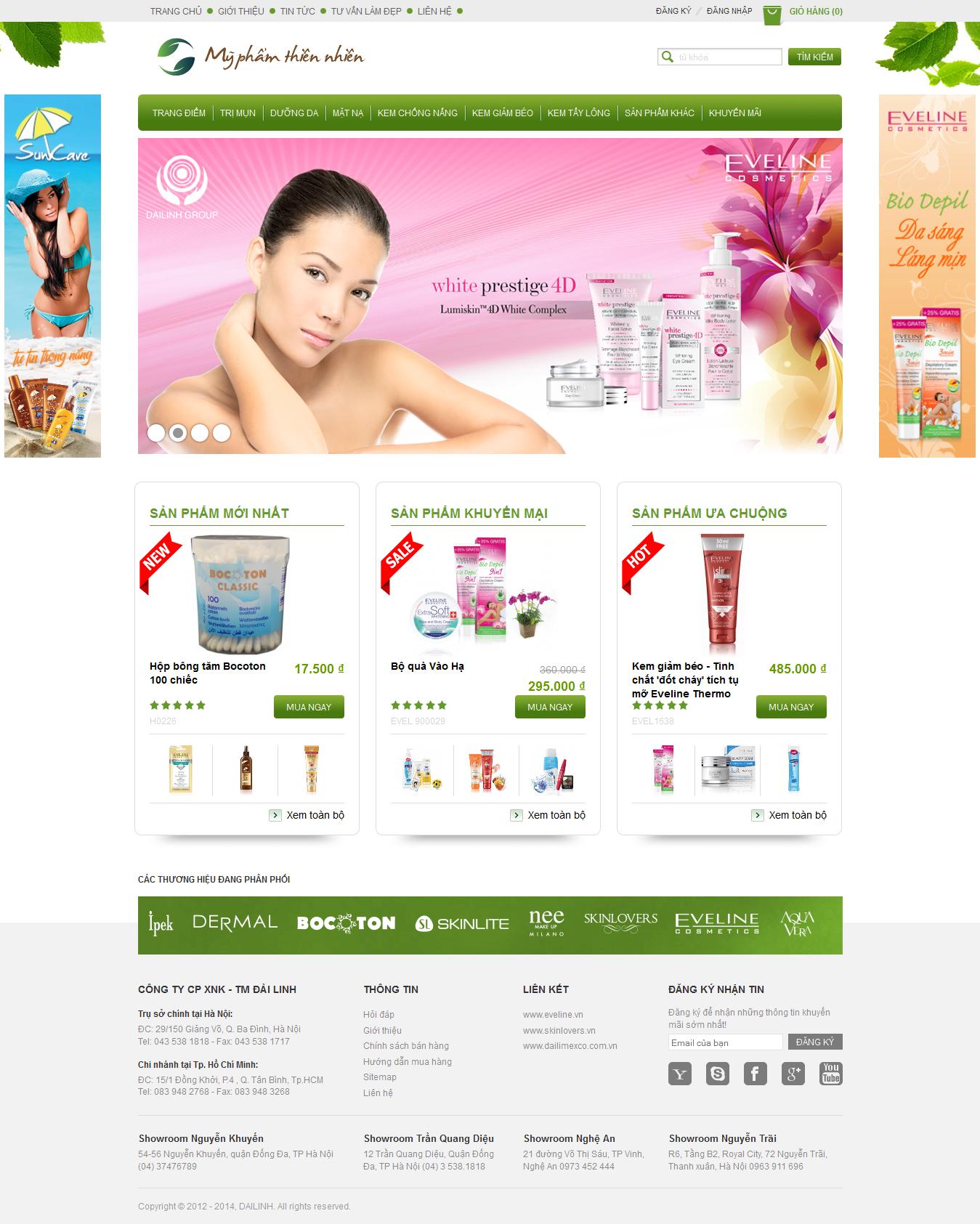Mẫu website mỹ phẩm 10477